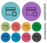credit card certified service...   Shutterstock .eps vector #1040855839