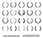collection of different black... | Shutterstock .eps vector #1040859550