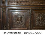 wood carving commode with... | Shutterstock . vector #1040867200