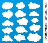 cloud icon.collection of cloud... | Shutterstock .eps vector #1040868700