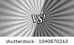 comic versus monchrome...   Shutterstock .eps vector #1040870263