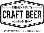 craft beer vintage style bar... | Shutterstock .eps vector #1040872420