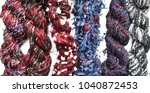 multicolor fancy yarns... | Shutterstock . vector #1040872453