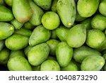 pile of beautiful green... | Shutterstock . vector #1040873290
