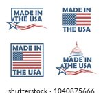 collection of made in the usa... | Shutterstock .eps vector #1040875666