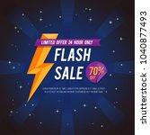 flash sale banner or poster.... | Shutterstock .eps vector #1040877493