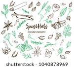set of various doodles  hand... | Shutterstock .eps vector #1040878969