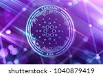 neon glowing cardano  ada  in... | Shutterstock . vector #1040879419