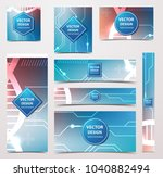 medical banner with... | Shutterstock .eps vector #1040882494