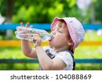 two year child drinks from... | Shutterstock . vector #104088869