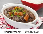 a french stew  daube of beef... | Shutterstock . vector #104089160