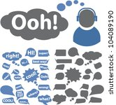 chat   speech bubbles icons set ... | Shutterstock .eps vector #104089190