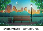vector illustration of bench... | Shutterstock .eps vector #1040892703