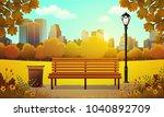 vector illustration of bench... | Shutterstock .eps vector #1040892709