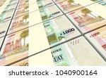 uruguay peso bills stacks... | Shutterstock . vector #1040900164