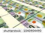mauritanian ouguiya bills... | Shutterstock . vector #1040904490