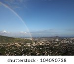 Rainbow Over Honolulu With...