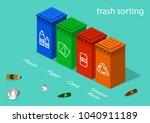 isometric 3d concept vector... | Shutterstock .eps vector #1040911189