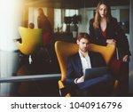 handsome serious man... | Shutterstock . vector #1040916796