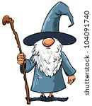 Simple Cartoon Wizard With...