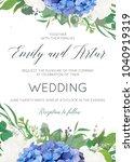 wedding floral invite ...   Shutterstock .eps vector #1040919319