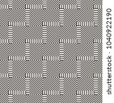 vector seamless lattice pattern.... | Shutterstock .eps vector #1040922190