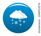 snow cloud holiday icon blue... | Shutterstock . vector #1040923276