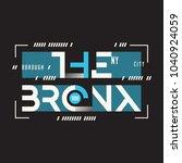 the bronx new york vector t... | Shutterstock .eps vector #1040924059