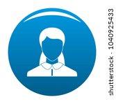 new woman avatar icon blue...