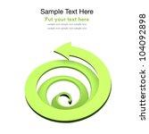 green spiral arrow | Shutterstock . vector #104092898