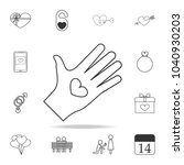 heart in hands icon. set of... | Shutterstock .eps vector #1040930203