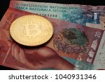 bitcoin cryptocurrency coin... | Shutterstock . vector #1040931346