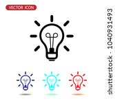 idea icon vector  lamp sign ... | Shutterstock .eps vector #1040931493