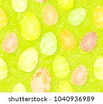 happy easter. seamless easter... | Shutterstock . vector #1040936989