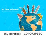 it s time to travel.trip to... | Shutterstock .eps vector #1040939980