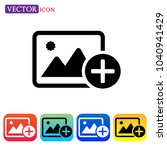 add image icon vector. add... | Shutterstock .eps vector #1040941429