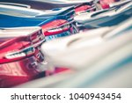 colorful  brand new cars on the ... | Shutterstock . vector #1040943454