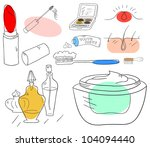 vector beauty accessories... | Shutterstock .eps vector #104094440