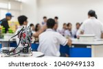 robotic lab class with school... | Shutterstock . vector #1040949133