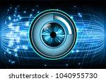 binary circuit board future... | Shutterstock .eps vector #1040955730