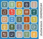 beverage line flat icons on... | Shutterstock .eps vector #1040960164