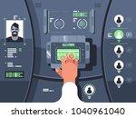 removing fingerprints and... | Shutterstock .eps vector #1040961040