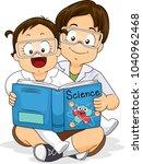 illustration of siblings... | Shutterstock .eps vector #1040962468