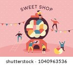 capsule toy machine concept... | Shutterstock .eps vector #1040963536