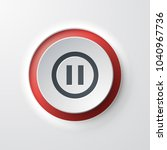 pause web icon push button | Shutterstock .eps vector #1040967736