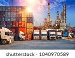 business logistics and... | Shutterstock . vector #1040970589