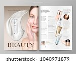 elegant skin care magazine... | Shutterstock .eps vector #1040971879