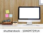 mock up of creative desktop...   Shutterstock . vector #1040972914