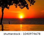 tourist dream evening... | Shutterstock . vector #1040974678