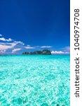 marine fantasy idyllic seascape  | Shutterstock . vector #1040974708